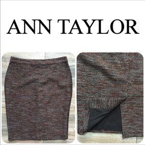 LIKE NEW ANN TAYLOR Tweed Lined Skirt Sz 8